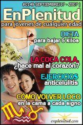 Cómo volver loco en la cama a cada signo, Ejercicios anticelulitis, Dieta para bajar 5 kilos, La Coca Cola, ¿hace mal al corazón? y mucho más en la Revista EnPlenitud Nº 149