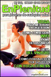 Yoga para mejorar la digestion, Como conseguir WiFi a kilometros de distancia, La dieta del vinagre, Como fortalecer tus gluteos con Yoga Fitness y mucho más en la Revista EnPlenitud Nº 313