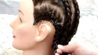 Como hacer peinados de trenzas pegadas
